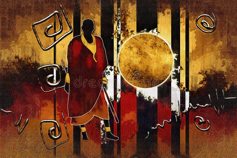 Download Afrikansk Etnisk Retro Tappningillustration Stock Illustrationer - Illustration av infött, livstid: 106830279
