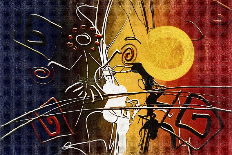 Download Afrikansk Etnisk Retro Tappningillustration Stock Illustrationer - Illustration av gladlynt, tappning: 106830310