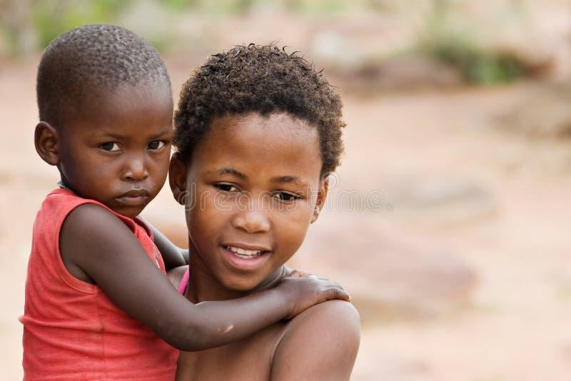 afrikansk familj royaltyfri bild