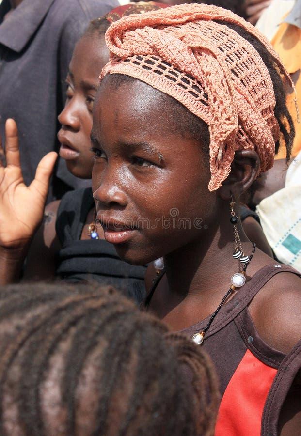 afrikansk flicka royaltyfria bilder