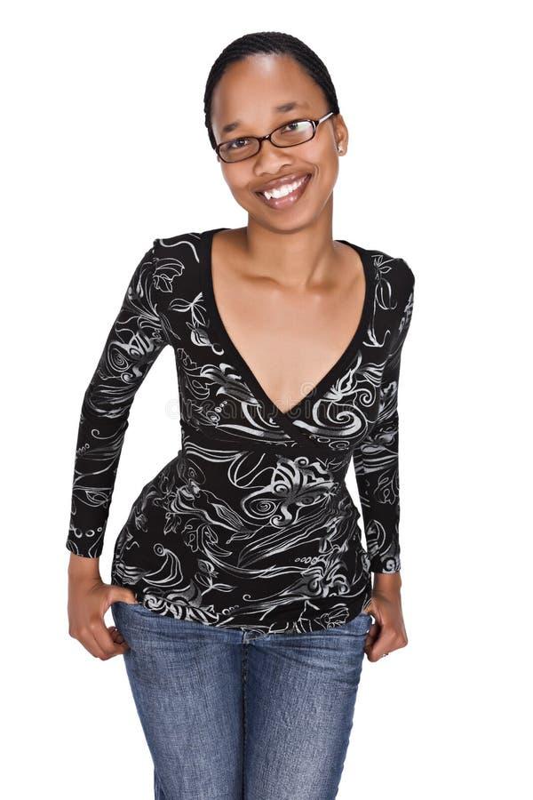 afrikansk flicka arkivfoton