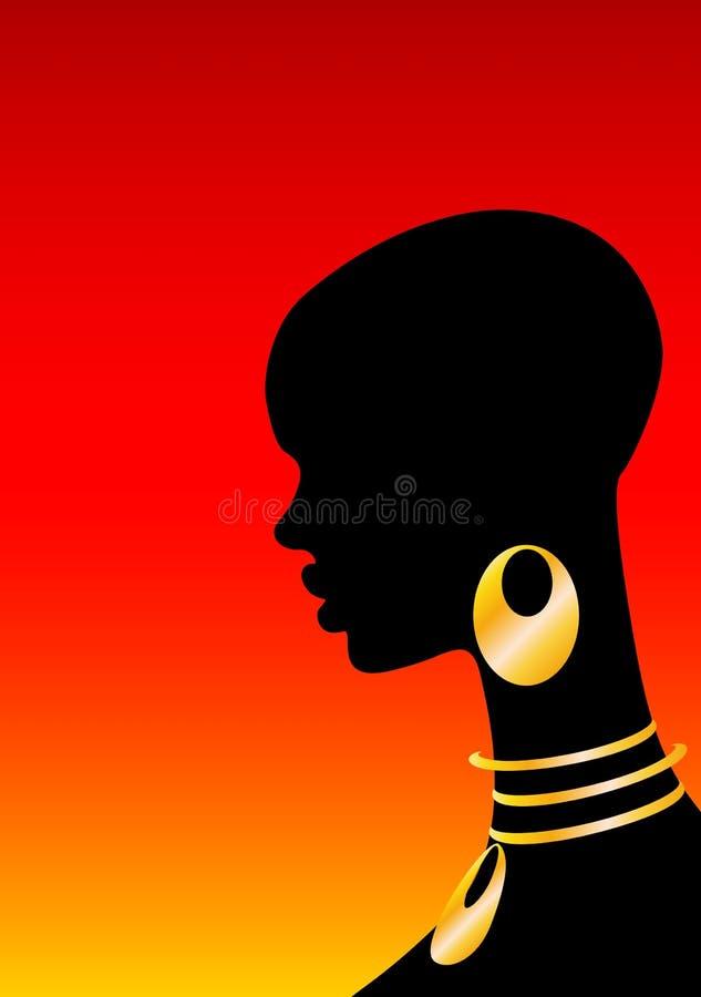 afrikansk flicka royaltyfri illustrationer