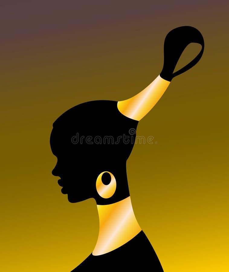 afrikansk flicka vektor illustrationer