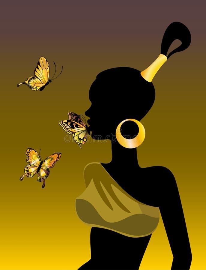 afrikansk flicka stock illustrationer