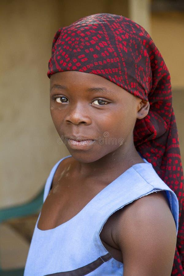 Afrikansk flicka i Ghana arkivfoto