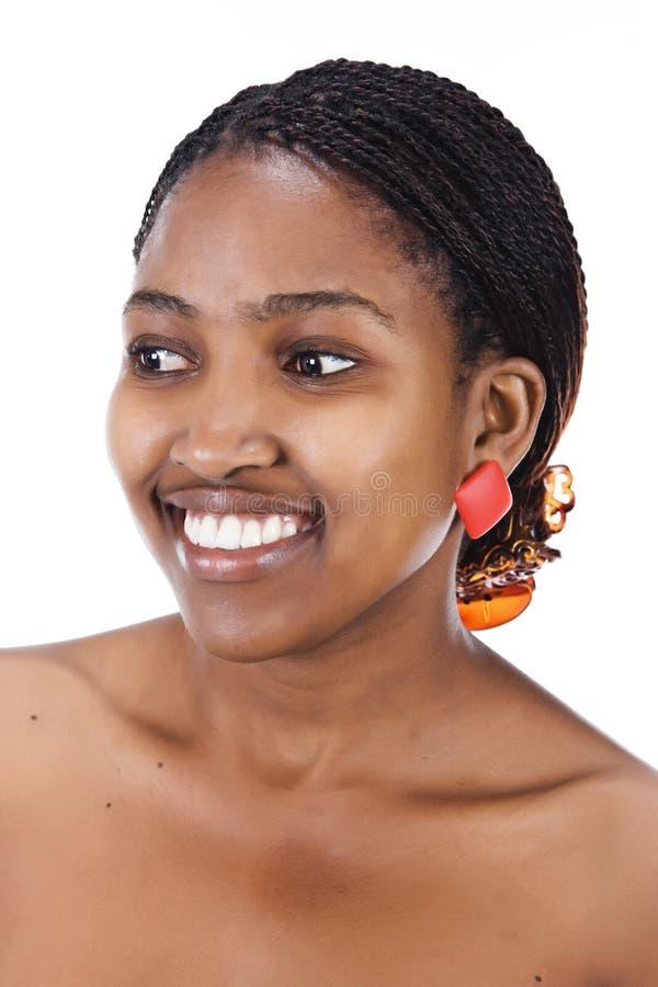 afrikansk flickastående royaltyfri fotografi