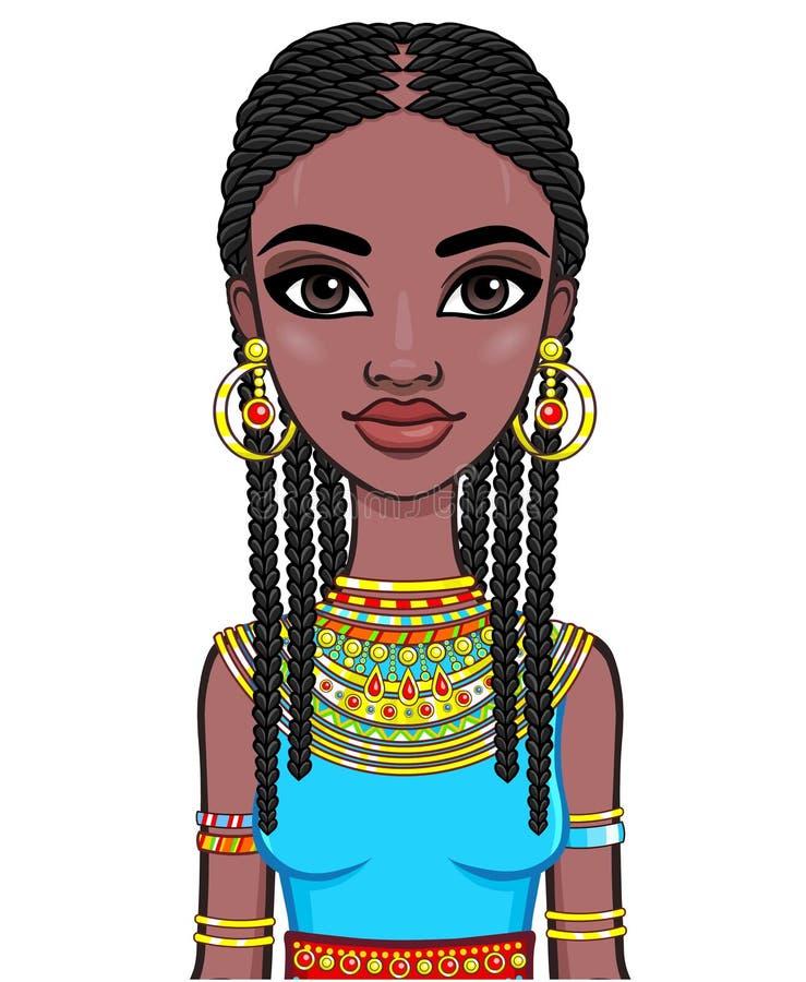 afrikansk flickastående vektor illustrationer