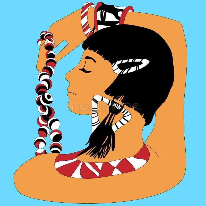 afrikansk flickastående stock illustrationer