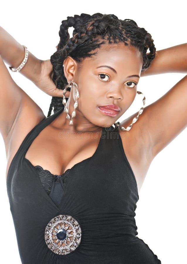 afrikansk frisyr arkivfoto