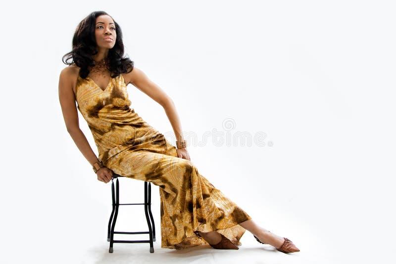 afrikansk härlig kvinna royaltyfri bild