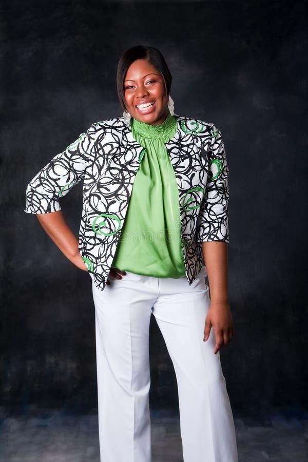 afrikansk härlig skratta kvinna royaltyfri foto