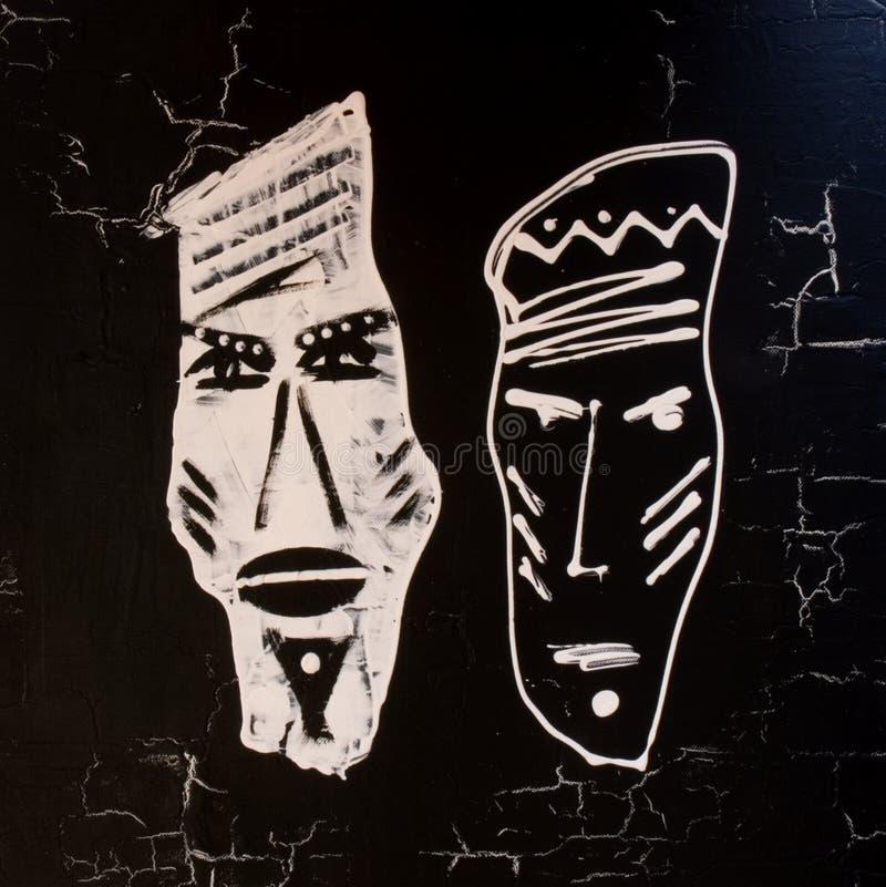 afrikansk handpainted bladesign