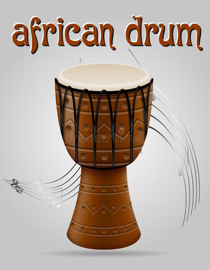 Afrikansk illustration för vektor för valsmusikinstrumentmateriel vektor illustrationer