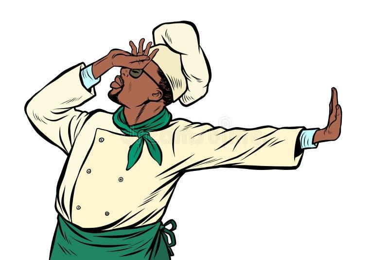 Afrikansk kockkock, gest av skam förnekande inte royaltyfri illustrationer