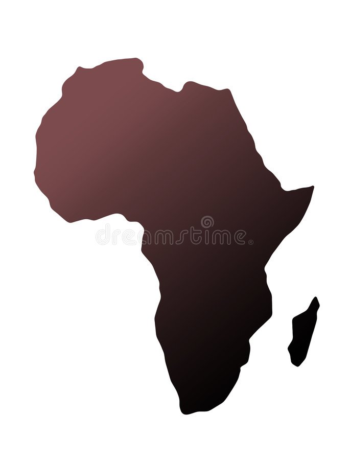 afrikansk kontinent vektor illustrationer