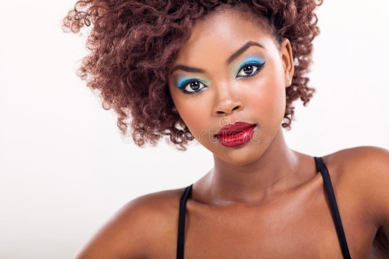 Afrikansk kvinnaskönhet fotografering för bildbyråer