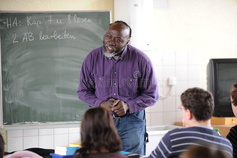 Afrikansk lärare royaltyfri fotografi
