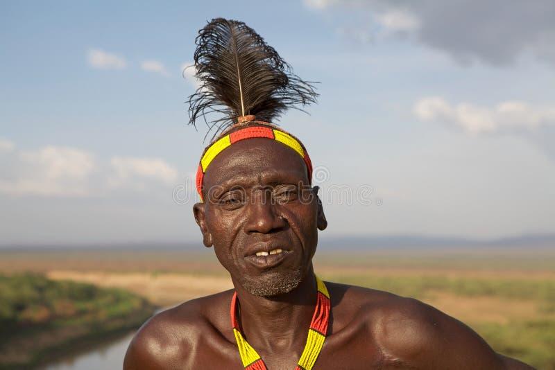 Afrikansk manstående royaltyfri foto