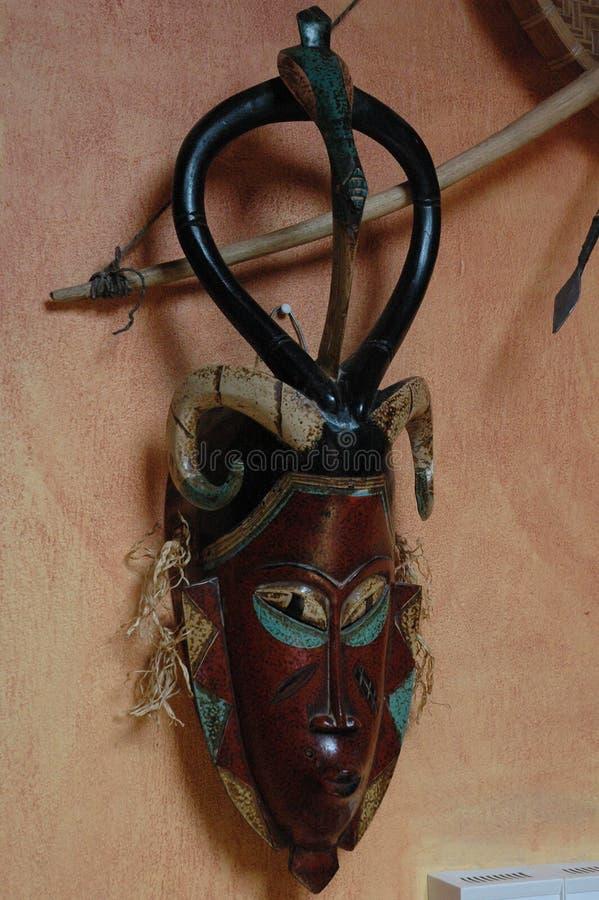 Afrikansk maskering i Sydafrika fotografering för bildbyråer