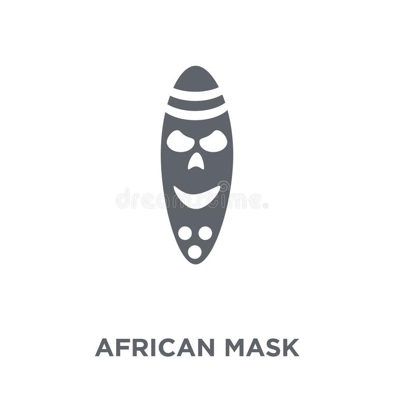 Afrikansk maskeringssymbol från museumsamling royaltyfri illustrationer