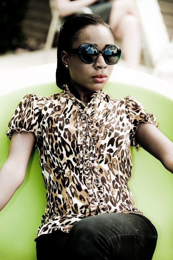 afrikansk modell royaltyfria bilder