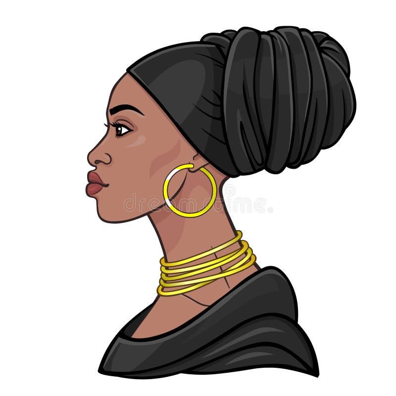 Afrikansk sk stock illustrationer