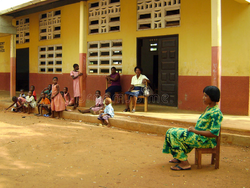 afrikansk skola arkivbilder