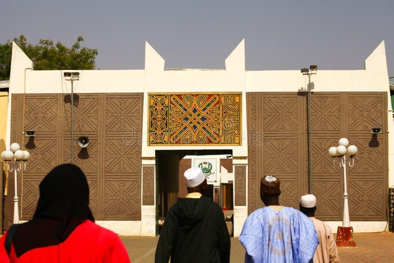 Afrikansk slottport royaltyfria foton
