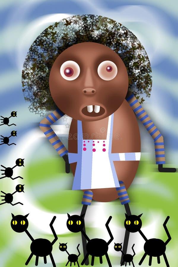 Afrikansk spis stock illustrationer