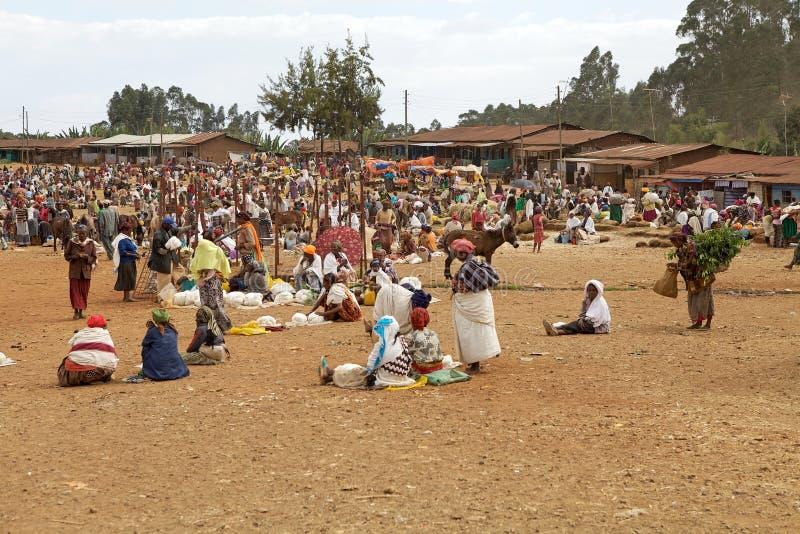 Afrikansk stam- marknad arkivfoto
