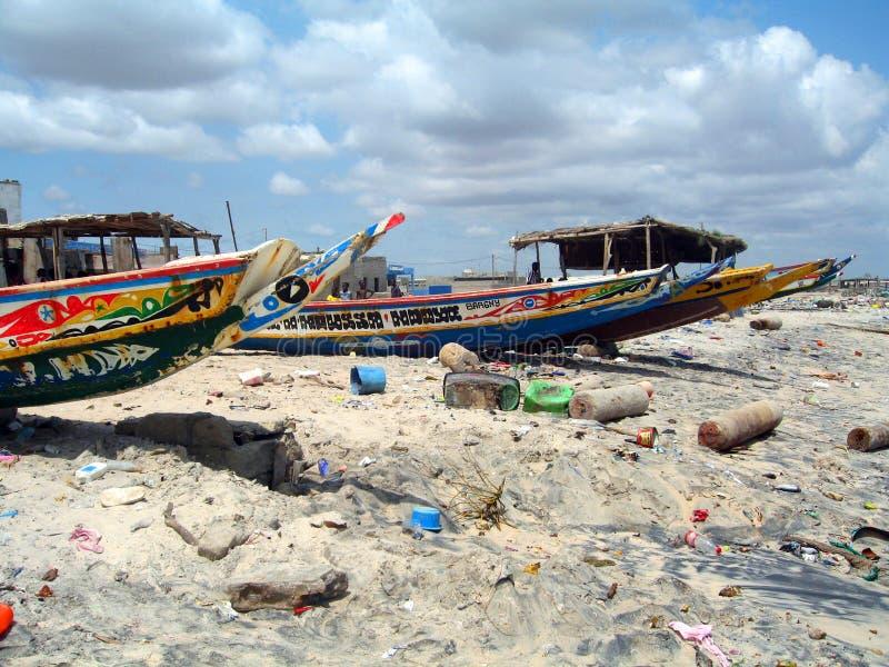 Afrikansk strand - Senegal arkivbild