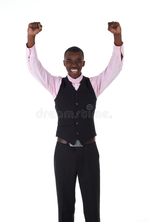 afrikansk svart affärsman fotografering för bildbyråer