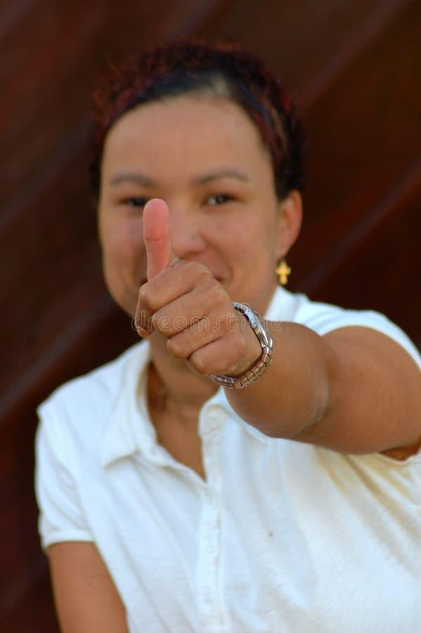 afrikansk tum upp royaltyfri fotografi