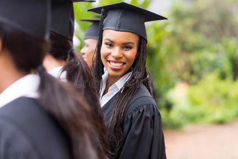 Afrikansk universitetkandidat royaltyfria foton
