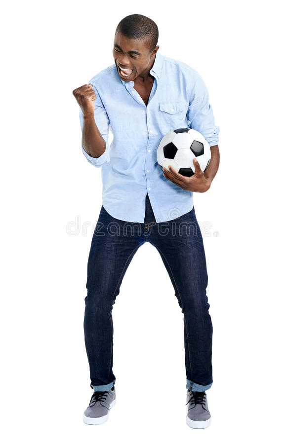 afrikansk ventilatorfotboll arkivbild