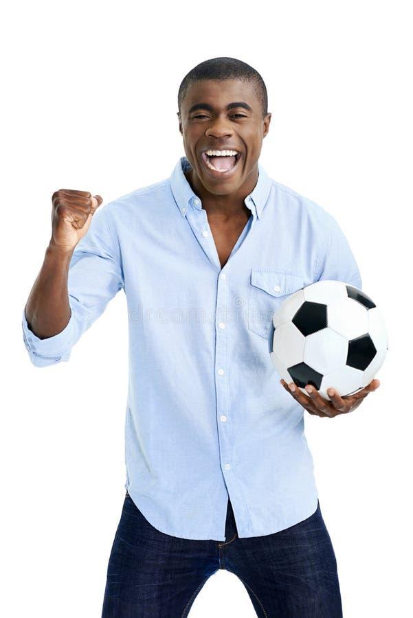 afrikansk ventilatorfotboll royaltyfri fotografi