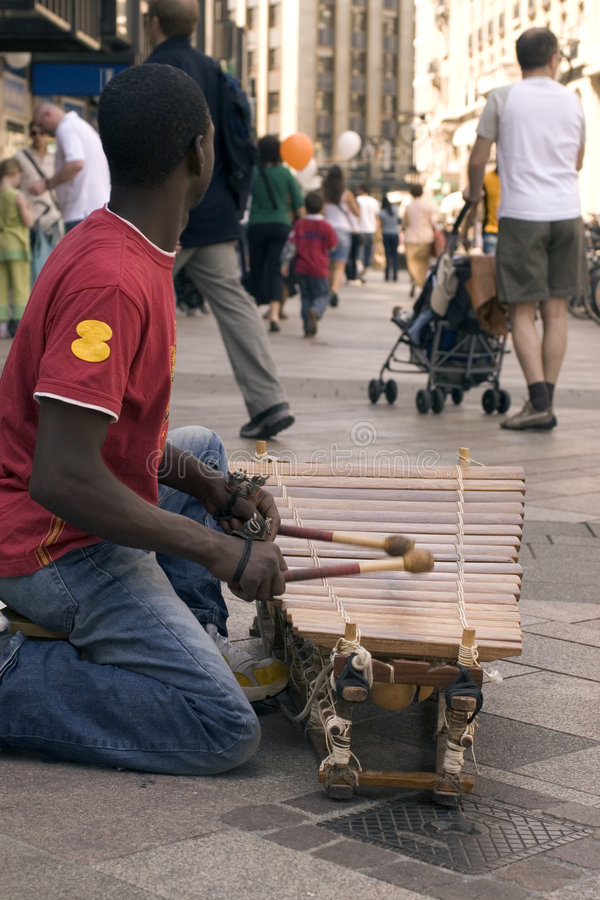 afrikansk xylofon royaltyfri fotografi