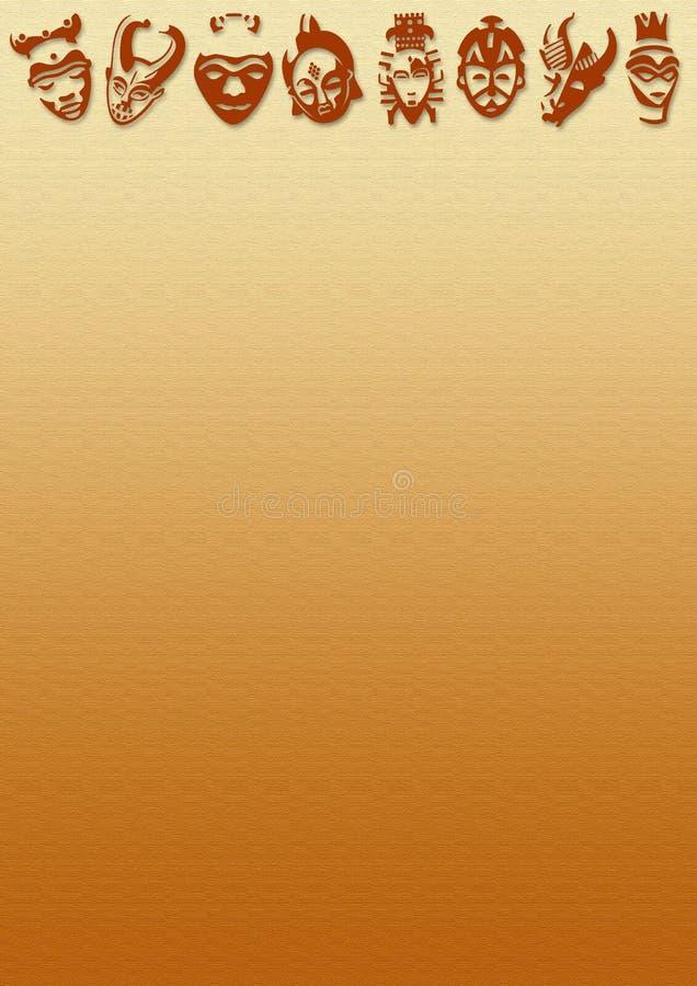 afrikanska bakgrundsmaskeringar