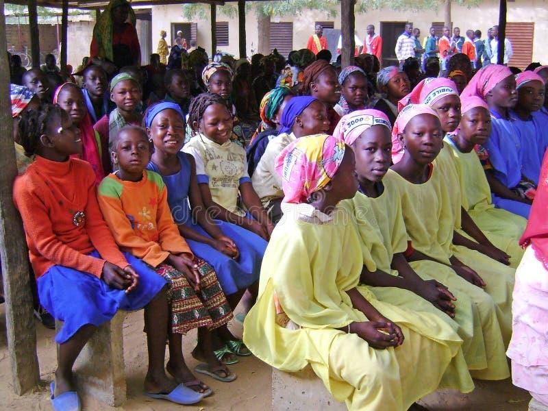 afrikanska barn ghana royaltyfria bilder