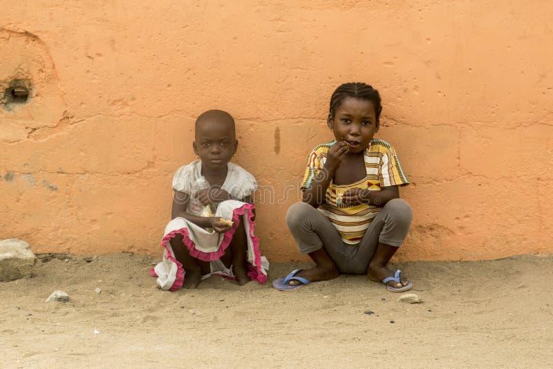 Afrikanska barn på gatan