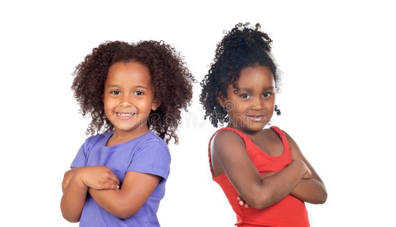 afrikanska barnsystrar royaltyfri fotografi