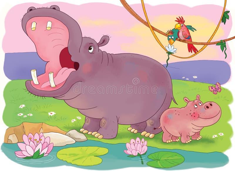 afrikanska djur children illustration arkivfoton