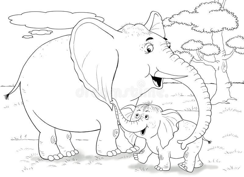 afrikanska djur Gulliga krokodiler children illustration arkivfoton