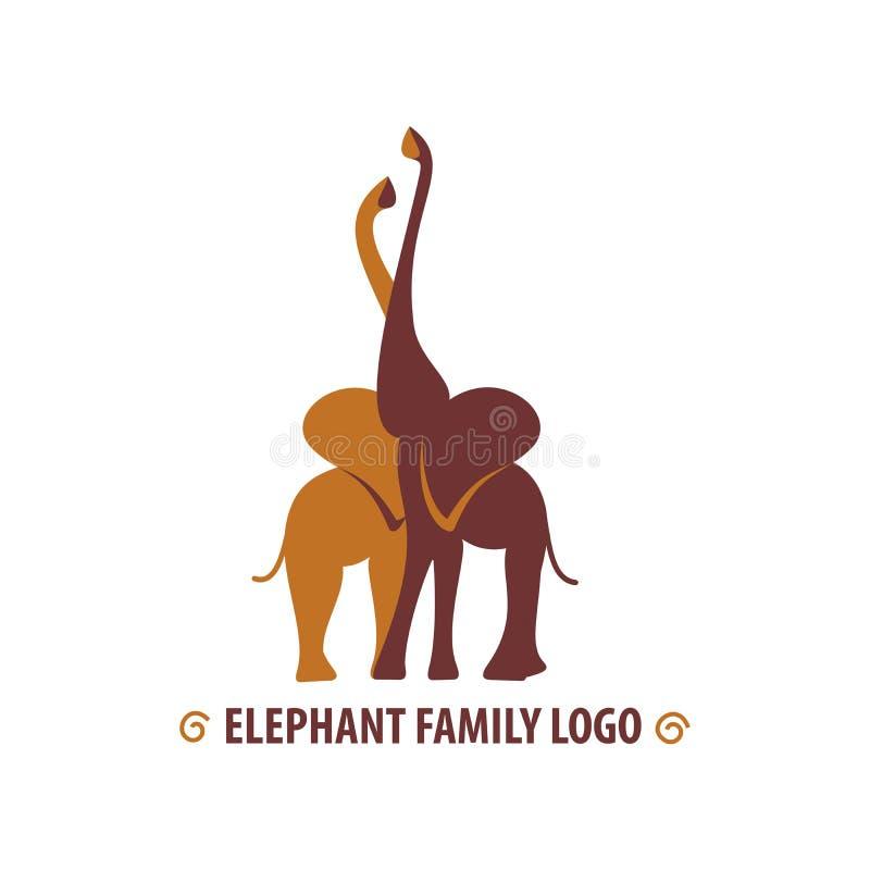 Afrikanska krama elefanter stock illustrationer