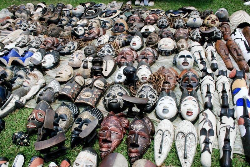 afrikanska maskeringar fotografering för bildbyråer