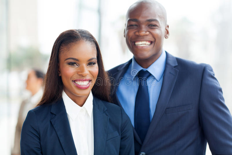Afrikanskt affärslag royaltyfria bilder