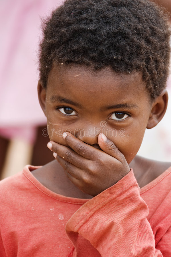 afrikanskt barn royaltyfria foton
