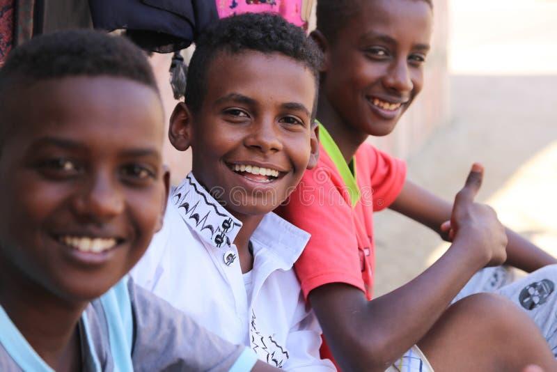Afrikanskt barnleende royaltyfri fotografi