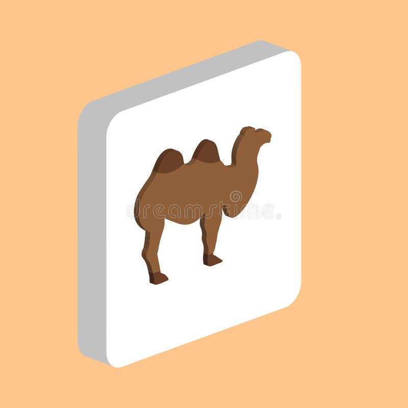 Afrikanskt datorsymbol för Bactrian kamel för ditt affärsprojekt royaltyfri illustrationer
