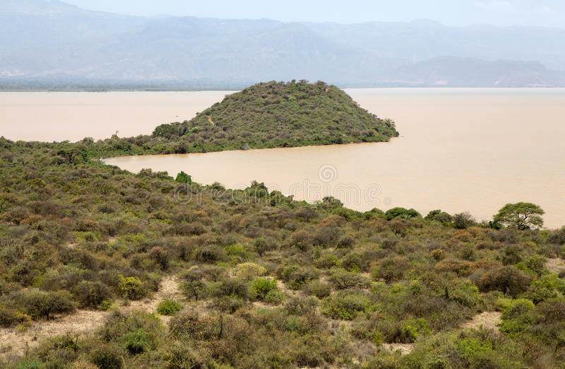 Afrikanskt landskap arkivfoto